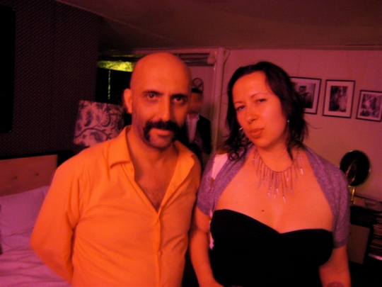 Here's me, during my first trip to Cannes, at a party with Gaspar Noe.