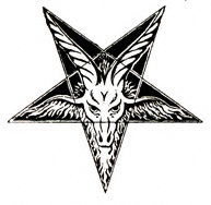 this is not what the Pentachrist looks like, but he has a similar pentagram-shaped badge/emblem/thingy