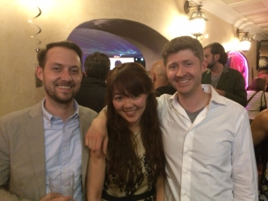 Ivy Lam with John (left) and Peter (right) of Magnolia - three of the sweetest sweethearts in Cannes