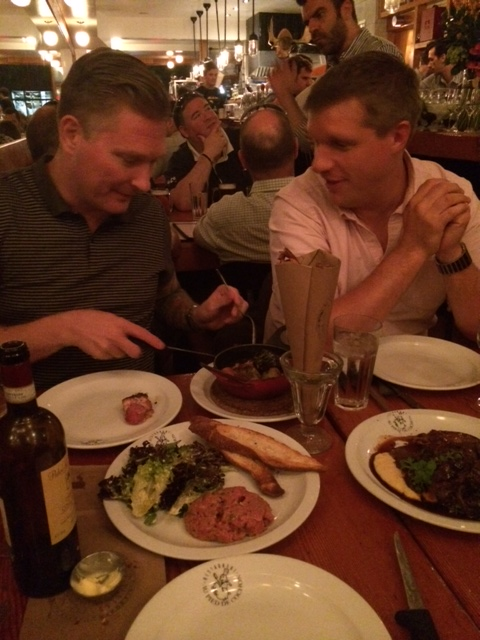 Travis and Brian marvel at meat