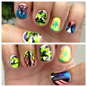 this is what my nails looked like for Fantasia 2013