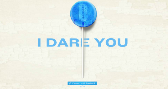 go ahead, take our transmedia company's creepy lollipop!