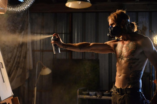 Ethan Embry in The Devil's Candy - schwing!